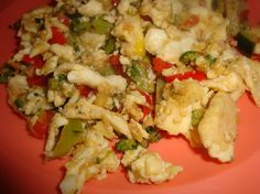 Scrambled eggs loaded with healthy veggies!