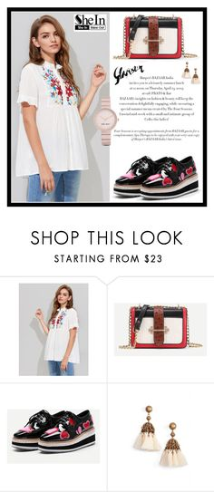 """SheIn 9."" by fashion-rebel-chic ❤ liked on Polyvore featuring Loren Hope and Nine West"