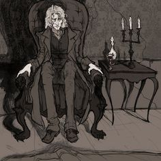 Roderick Usher by AbigailLarson.deviantart.com The Fall of the House of Usher by Poe ..
