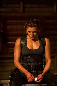 Katie Sackhoff in Vin Diesel's Riddick movie playing a Merc