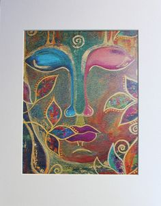 "Buddha print, Buddha art, Buddha handmade, Buddha wall art, Buddhism, Spiritual art, Zen ""Buddha Birds"" 10x8 Photo Print (unmatted/unframed)"
