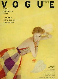 A stunning compilation of Vintage Vogue Covers, it details the illustrated covers of Vogue from 1909 through to Vogue Vintage, Vintage Vogue Covers, Vintage Ads, Vogue Magazine Covers, Fashion Magazine Cover, Fashion Cover, Vogue Fashion, 1950s Fashion, Vintage Fashion
