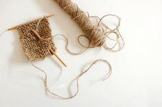 Knitting With Garden Twine. Instructions for a very basic dish scrubbie.  Interesting.