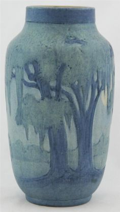 Newcomb College Pottery | Spanish Moss and Oaks
