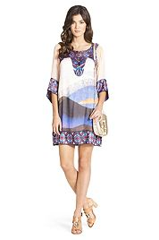 Vail Printed Silk Tunic Dress | Dresses by DVF