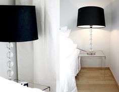 Need new bedside tables. Maybe these could work (since we already have these same table lamps)?