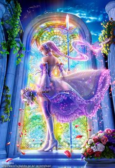 A Beautiful Bride Essence... Uniting of All aspects of ourself known and unknown, multi coloured and diversity of our Being... With Unconditional Love for All... Creates the Divine Marriage of Love within firstly so it is easy to share All we Be!! Arte Fantasia bonita por Takaki