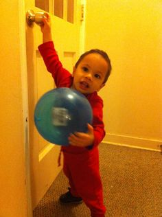 Here is Waterbury Workers' Comp Team Leader Pedro Roman's 1-year-old son in RED for National Heart Month.