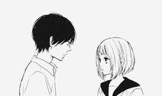 anime gif anime kiss anime love anime shojo anime black and whit