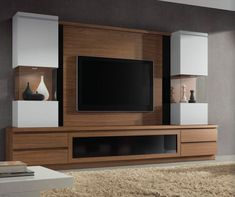 mueble de tv Tv Unit Furniture Design, Built In Furniture, Custom Furniture, Tv Unit Decor, Tv Wall Decor, Living Room Modern, Home Living Room, Tv Wanddekor, Modern Tv Wall Units