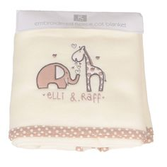 Elli and Raff Embroidered Fleece Cot baby Blanket deals.