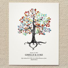 Rustic Woodland Tree Wedding Poster / Sign - DIY Printable PDF Template - wedding, baby, shower, gift, custom, home, nursery, decor via Etsy