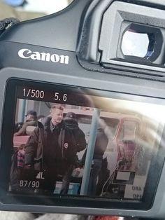 Josh Dallas on set today.
