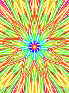 I made this painting with Kaleidoscope Drawing Pad on iPhone :)