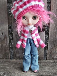 dolly molly HOLEY JEANS for BLYTHE doll by dollymolly on Etsy, $20.00