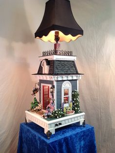 Table Lamp Dollhouse Victoria This structure is incredible!  I saw it at the Seattle Show in 2013 and the details are all there, inside and out!