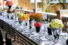 Picnic wedding reception
