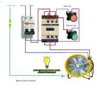 Esquemas eléctricos: marcha paro extractor