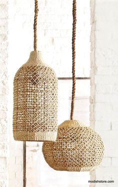 Roost Basket Cloche Lamp | Roost Pendant Lamps | Modish Store More@Modish www.modishstore.com