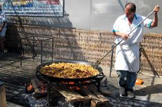 Paella from street vendor in Barcelona. I want to go to Spain, if only for the paella!