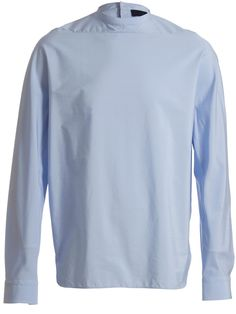 Lanvin Men's Back Button Stand and Tuxedo Collar Shirt