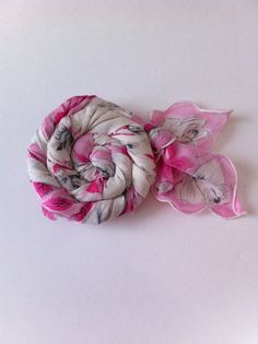 Vintage Handkerchief Rosette Pin. $10.00, via Etsy.