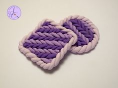 Tutorial: Effetto Maglia in Fimo (faux knit effect polymer clay) - YouTube