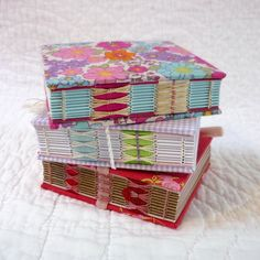 Small Floral Hand-bound recycled notebooks