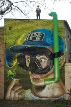 Lonac finishes another surrealist mural in Zagreb