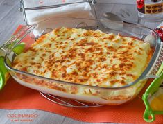 CANELONES DE POLLO | Comparterecetas.com Macaroni And Cheese, Main Dishes, Chicken Recipes, Good Food, Cooking Recipes, Favorite Recipes, Food And Drink, Dinner, Ethnic Recipes