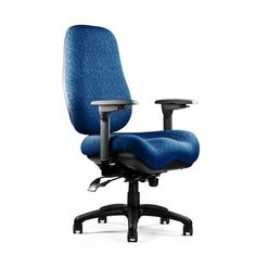 Neutral Posture 6000 Series High-Back Desk Chair Upholstery: Revive - Ebony, Seat: Large Seat, Deep Contour