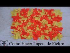 COMO HACER TAPETE PARA BAÑO DE FIELTRO - YouTube