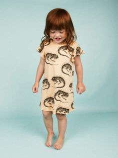 @Mini Rodini Spring Summer 2014, pastel pink dress with lizzards #animalkingdom #minirodini #childrens #kids #childrenswear #kidswear #kidsfashion #girls #boys