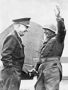 Patton, George S. 1885-1945 Officer (Lt.Gen.) USAas supreme commander of the 3. US-Army together with gen. Dwight D. Eisenhower (surpeme commander of allied troops) during WW.II.March/April 1945