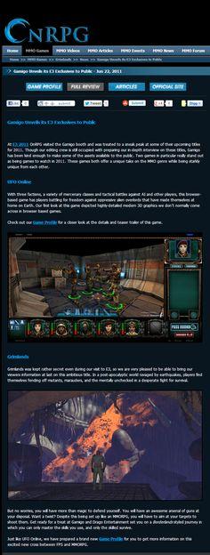 OnRPG previews UFO Online and Grimlands at E3 2011