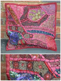 Handmade Large Vintage Pillow Sham from India #6