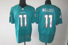 2013 Nike Miami Dolphins 11 Mike Wallace Green 2013 Elite New Logo Jersey