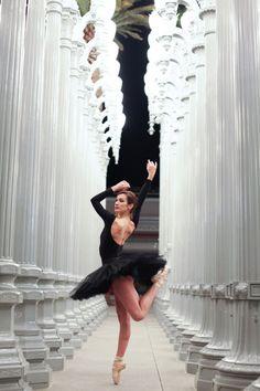 The beauty of ballet meets Urban Light.