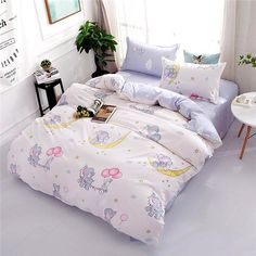 Bedding Sets Star Galxy Duvet Cover Blue White cartoon new fashion Bed sheets Single Twin Full Queen Sizes Kid or Boys - Bedding Set - Ideas of Bedding Set - 3d Bedding Sets, Girls Bedding Sets, Bedding Sets Online, Queen Bedding Sets, Luxury Bedding Sets, Linen Bedding, Bed Linens, Queen Duvet, King Comforter