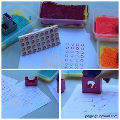 Stamping with LEGO D