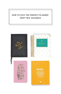 How to Pick the Perfect Planner Part Two: Business Perfect Planner, Blog Online, Hat Making, Blogging For Beginners, Business, Stationary, How To Make, Bullet Journal, Diy
