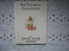 The Tailor of Gloucester by Beatrix Potter. Hardcover 1989. by MarginaliaBooks on Etsy