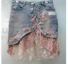 Skirt out of an old jean
