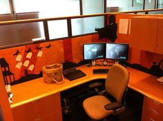 Why not get into the orange and black spirit of things this Halloween and tissue paper your entire cubicle? We know a great place you can find some ;) Credit- Zlopid on flickr