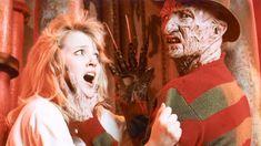 "Tuesday Knight as Kristen Parker & Robert Englund as Freddy Krueger in ""A Nightmare on Elm Street 4: The Dream Master"""