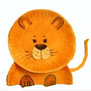 Paper Plate Lion Craft from www.daniellesplace.com