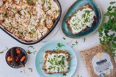 Kapustová pohánka s mungo fazuľkami! Avocado Toast, Pasta Salad, Breakfast, Ethnic Recipes, Food, Red Peppers, Crab Pasta Salad, Morning Coffee, Essen