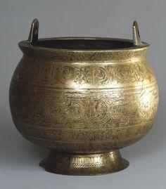 The Pot of Iran, XII century - Hermitage St. Historical Art, Cauldron, Second World, Art Object, Islamic Art, Precious Metals, Handicraft, Iran, Metal Working