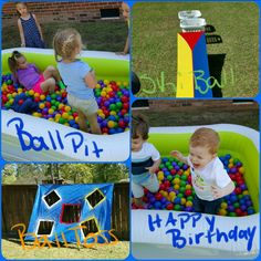 Bouncy Ball 2nd Birthday Party Games Theme 3rd