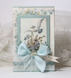 Here is an Easter card made with the new Easter Greetings collection. As always beautiful details and images, really easy to create with.Wish you a great day.Anne KristinePion products:Easter Greetings - Forget me not PD7007Easter Greetings - Angel of spring PD7003Easter Greetings -…